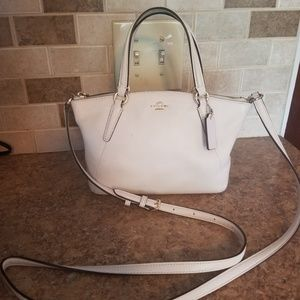 Coach satchel (light cream)